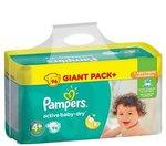 Pampers Active Baby Dry Luiers maat 4+ 96 stuks