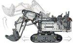 LEGO Technic Liebherr R 9800 Graafmachine 42100
