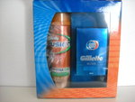 Gillette Fusion Geschenkverpakking Hydra Scheergel + Blue After Shave Lotion