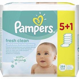 Pampers Billendoekjes Fresh Clean 6 x 64 stuks