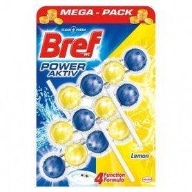 Bref Power Aktive Toiletblok Juicy Lemon 4 in 1 (3 Stuks)