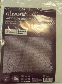 Absorin Onderlegger Wasbaar 1580W 85 cm x 90 cm 1 stuks