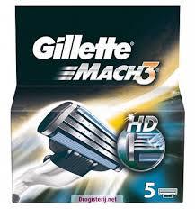 Gillette Mach3 HD scheermesjes (5st.)
