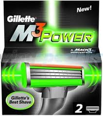 Gillette M3 power Scheermesjes (2st.)