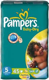Pampers Baby Dry Luiers maat 5 Junior (11-25 kg) - 45 stuks