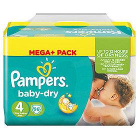 Pampers Baby Dry Luiers maat 4 Maxi Mega Pack 96 stuks