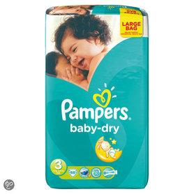 Pampers Baby Dry Luiers maat 3 Midi Large Bag 68 stuks