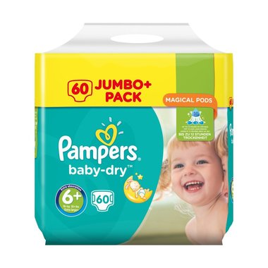 Pampers Baby Dry Luiers maat 6+ Extra Large+ 60 stuks