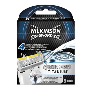 Wilkinson Quattro Titanium scheermesjes 8 stuks