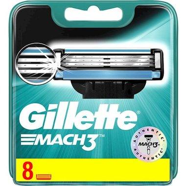 Gillette Mach3 scheermesjes 8 Stuks Nieuwe verpakking