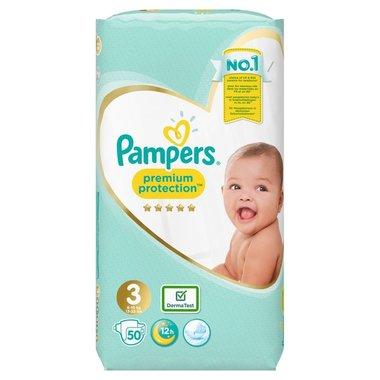 Pampers Premium Protection Luiers maat 3 (6-10 kg) 50 Stuks