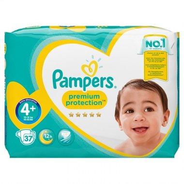 Pampers Premium Protection Luiers maat 4+ (10-15 kg) 37 Stuks