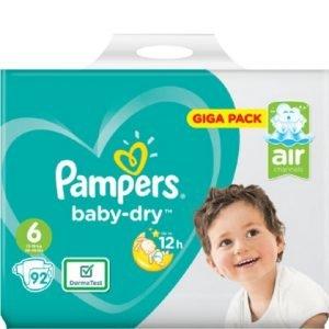 Pampers Baby Dry Luiers maat 6 Giga Pack 92 stuks