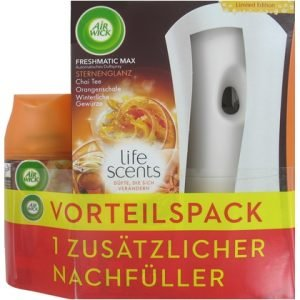 Airwick Freshmatic Max Houder + 2 navulling Life Scents Shine of Stars
