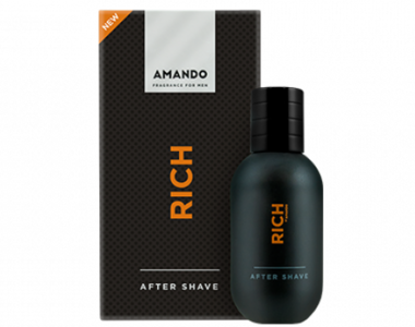 Amando Rich Aftershave 50ml Nieuwe Verpakking