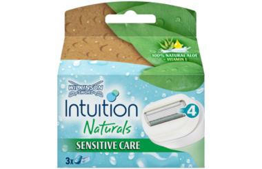 Wilkinson Intuition Naturals Sensitive care scheermesjes 3 st