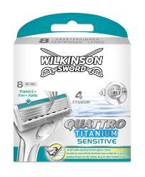Wilkinson Quattro Titanium Sensitive scheermesjes (8st.)