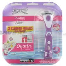 Wilkinson Quattro For Women Houder voor scheren en trimmen + 3 mesjes