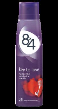 8x4 Deospray Key to Love 150 ml
