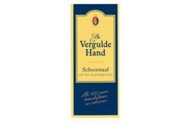 Vergulde Hand Scheerstaaf 75G.