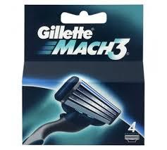 Gillette Mach3 scheermesjes (4st.)