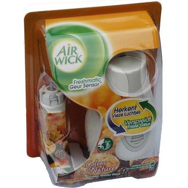 Airwick Freshmatic Geur Sensor Colours of Nature apparaat + navulling C Gouden Winterhout