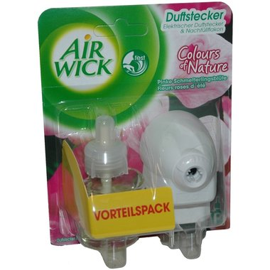AirWick Elektrische Geurstekker Compleet Colours of Nature Pinke Schmetterlingsblute