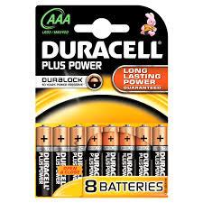 Duracell AAA Plus Power Alkaline Batterij 8 pack