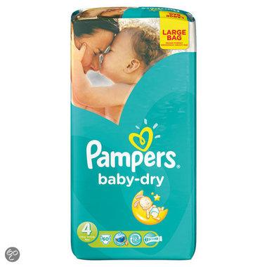 Pampers Baby Dry Luiers maat 4 Maxi Large Bag 60 stuks