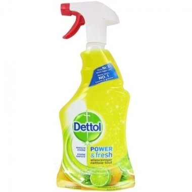 Dettol Spray Power & Fresh Allesreiniger Sprankelende Citroen & Limoen 500 ml