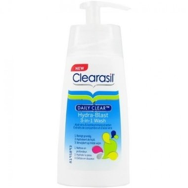 Clearasil Wash 3 in 1 Wascréme  Daily Clear Hydra Blast 150 ml.