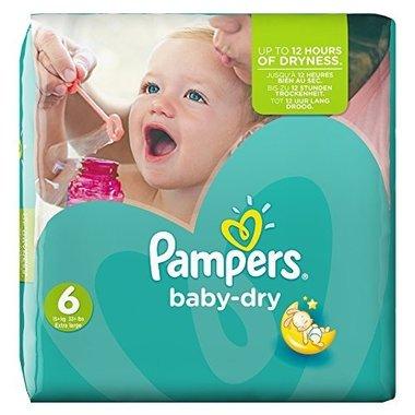 Pampers Baby Dry Luiers 6 Extra Large 31 stuks