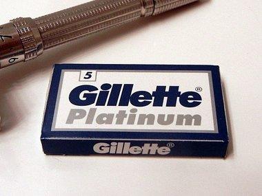 Gillette Platinum Double Edge Scheermesjes 5 stuks