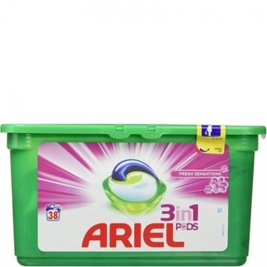 Ariel 3 in 1 Pods Fresh Sensations 38 stuks