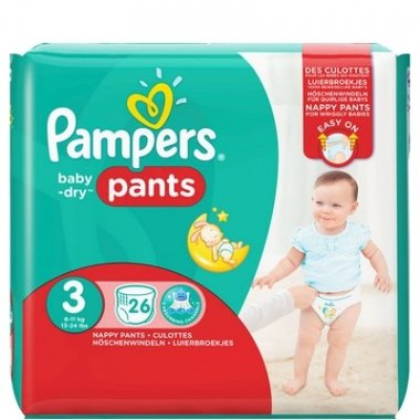 Pampers Baby-Dry Pants (Luierbroekjes) Maat 3