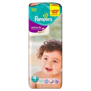 Pampers Premium Protection Active Fit Maat 4 Maxi 52 Luiers