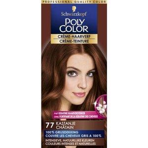 Schwarzkopf Poly Color Crème 77 Kastanje Permanente Haarverf