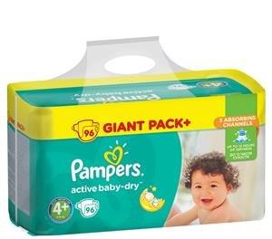 Pampers Active Baby Dry Maat 4+ 96 Luiers