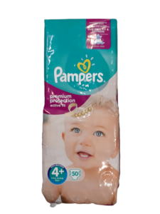 Pampers Premium Protection Active Fit Maat 4+ 50 Luiers