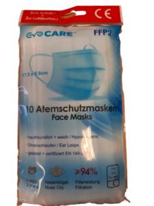 Ademhalings Masker / Mondkapjes Evo Care FFP2 (mondkapjes) 10 stuks
