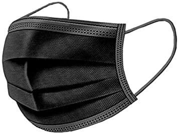 Ademhalings Masker / Mondkapjes 50 Stuks 3 Laags Zwart