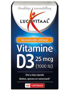 Lucovitaal Vitamine D3 25mcg 60 Capsules