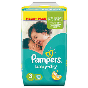 Pampers Baby Dry Luiers Maat 3 (4-9 kg) 112 Stuks